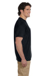 Gildan G830 Mens DryBlend Moisture Wicking Short Sleeve Crewneck T-Shirt w/ Pocket Black Side