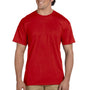 Gildan Mens DryBlend Moisture Wicking Short Sleeve Crewneck T-Shirt w/ Pocket - Red