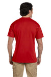 Gildan G830 Mens DryBlend Moisture Wicking Short Sleeve Crewneck T-Shirt w/ Pocket Red Back