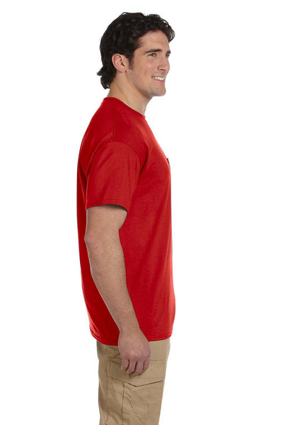 Gildan G830 Mens DryBlend Moisture Wicking Short Sleeve Crewneck T-Shirt w/ Pocket Red Side