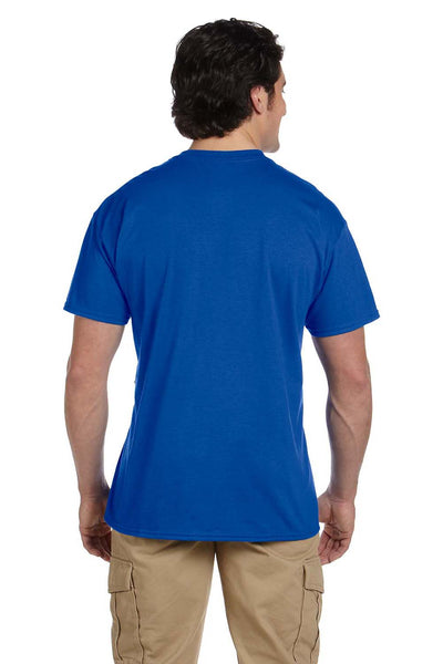 Gildan G830 Mens DryBlend Moisture Wicking Short Sleeve Crewneck T-Shirt w/ Pocket Royal Blue Back