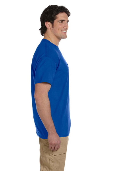 Gildan G830 Mens DryBlend Moisture Wicking Short Sleeve Crewneck T-Shirt w/ Pocket Royal Blue Side