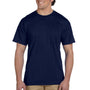 Gildan Mens DryBlend Moisture Wicking Short Sleeve Crewneck T-Shirt w/ Pocket - Navy Blue