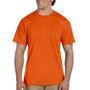 Gildan Mens DryBlend Moisture Wicking Short Sleeve Crewneck T-Shirt w/ Pocket - Orange