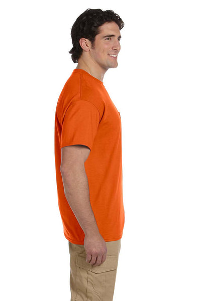 Gildan G830 Mens DryBlend Moisture Wicking Short Sleeve Crewneck T-Shirt w/ Pocket Orange Side