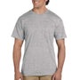 Gildan Mens DryBlend Moisture Wicking Short Sleeve Crewneck T-Shirt w/ Pocket - Sport Grey