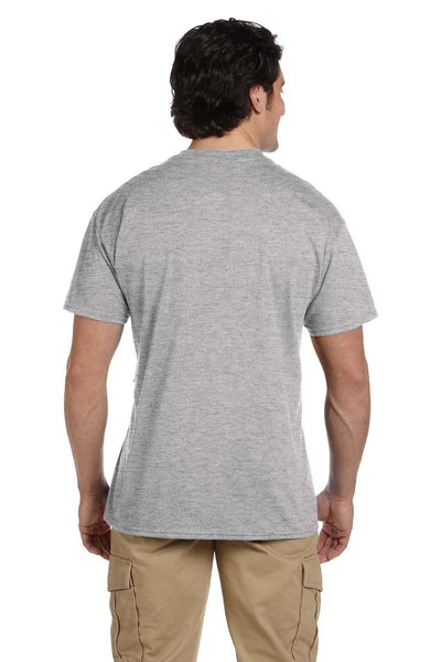 Gildan G830 Mens DryBlend Moisture Wicking Short Sleeve Crewneck T-Shirt w/ Pocket Sport Grey Back