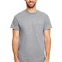 Gildan Mens DryBlend Moisture Wicking Short Sleeve Crewneck T-Shirt w/ Pocket - Heather Graphite Grey