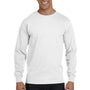 Gildan Mens DryBlend Moisture Wicking Long Sleeve Crewneck T-Shirt - White