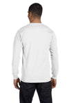 Gildan G840 Mens DryBlend Moisture Wicking Long Sleeve Crewneck T-Shirt White Back