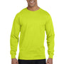 Gildan Mens DryBlend Moisture Wicking Long Sleeve Crewneck T-Shirt - Safety Green