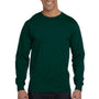 Gildan Mens DryBlend Moisture Wicking Long Sleeve Crewneck T-Shirt - Forest Green