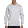 Gildan Mens DryBlend Moisture Wicking Long Sleeve Crewneck T-Shirt - Ash Grey