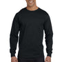 Gildan Mens DryBlend Moisture Wicking Long Sleeve Crewneck T-Shirt - Black