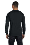 Gildan G840 Mens DryBlend Moisture Wicking Long Sleeve Crewneck T-Shirt Black Back