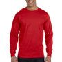 Gildan Mens DryBlend Moisture Wicking Long Sleeve Crewneck T-Shirt - Red