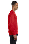 Gildan G840 Mens DryBlend Moisture Wicking Long Sleeve Crewneck T-Shirt Red Side