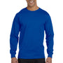 Gildan Mens DryBlend Moisture Wicking Long Sleeve Crewneck T-Shirt - Royal Blue