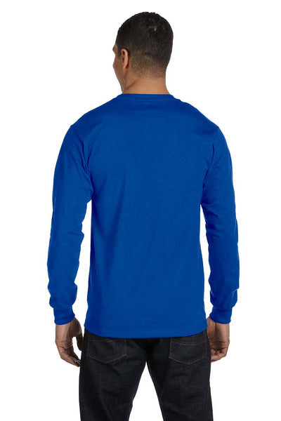 Gildan G840 Mens DryBlend Moisture Wicking Long Sleeve Crewneck T-Shirt Royal Blue Back