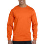 Gildan Mens DryBlend Moisture Wicking Long Sleeve Crewneck T-Shirt - Orange