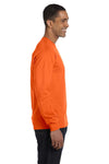 Gildan G840 Mens DryBlend Moisture Wicking Long Sleeve Crewneck T-Shirt Orange Side