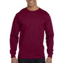 Gildan Mens DryBlend Moisture Wicking Long Sleeve Crewneck T-Shirt - Maroon