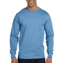 Gildan Mens DryBlend Moisture Wicking Long Sleeve Crewneck T-Shirt - Carolina Blue