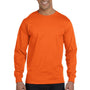 Gildan Mens DryBlend Moisture Wicking Long Sleeve Crewneck T-Shirt - Safety Orange