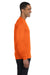 Gildan G840 Mens DryBlend Moisture Wicking Long Sleeve Crewneck T-Shirt Safety Orange Side