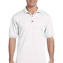 Gildan Mens DryBlend Moisture Wicking Short Sleeve Polo Shirt - White