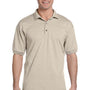 Gildan Mens DryBlend Moisture Wicking Short Sleeve Polo Shirt - Sand