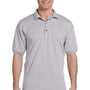 Gildan Mens DryBlend Moisture Wicking Short Sleeve Polo Shirt - Sport Grey