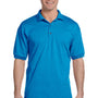 Gildan Mens DryBlend Moisture Wicking Short Sleeve Polo Shirt - Sapphire Blue