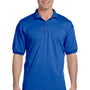 Gildan Mens DryBlend Moisture Wicking Short Sleeve Polo Shirt - Royal Blue