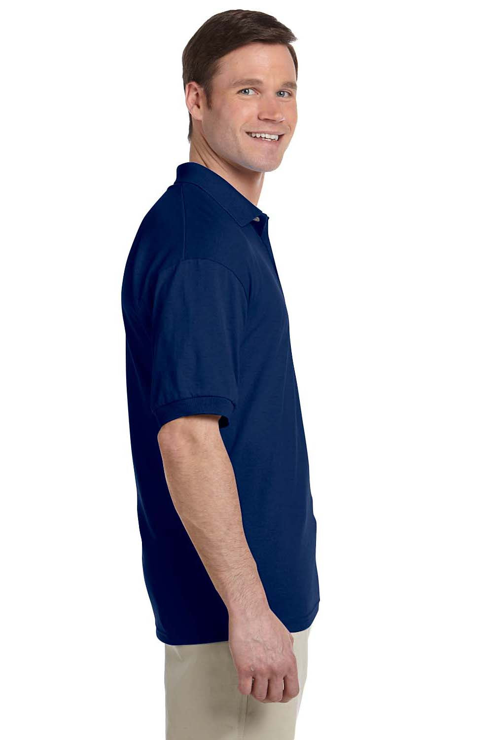 Gildan G880 Mens DryBlend Moisture Wicking Short Sleeve Polo Shirt Navy Blue Side