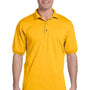 Gildan Mens DryBlend Moisture Wicking Short Sleeve Polo Shirt - Gold