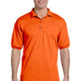 Gildan Mens DryBlend Moisture Wicking Short Sleeve Polo Shirt - Orange