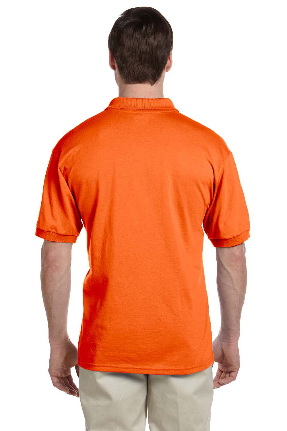 Gildan G880 Mens DryBlend Moisture Wicking Short Sleeve Polo Shirt Orange Back