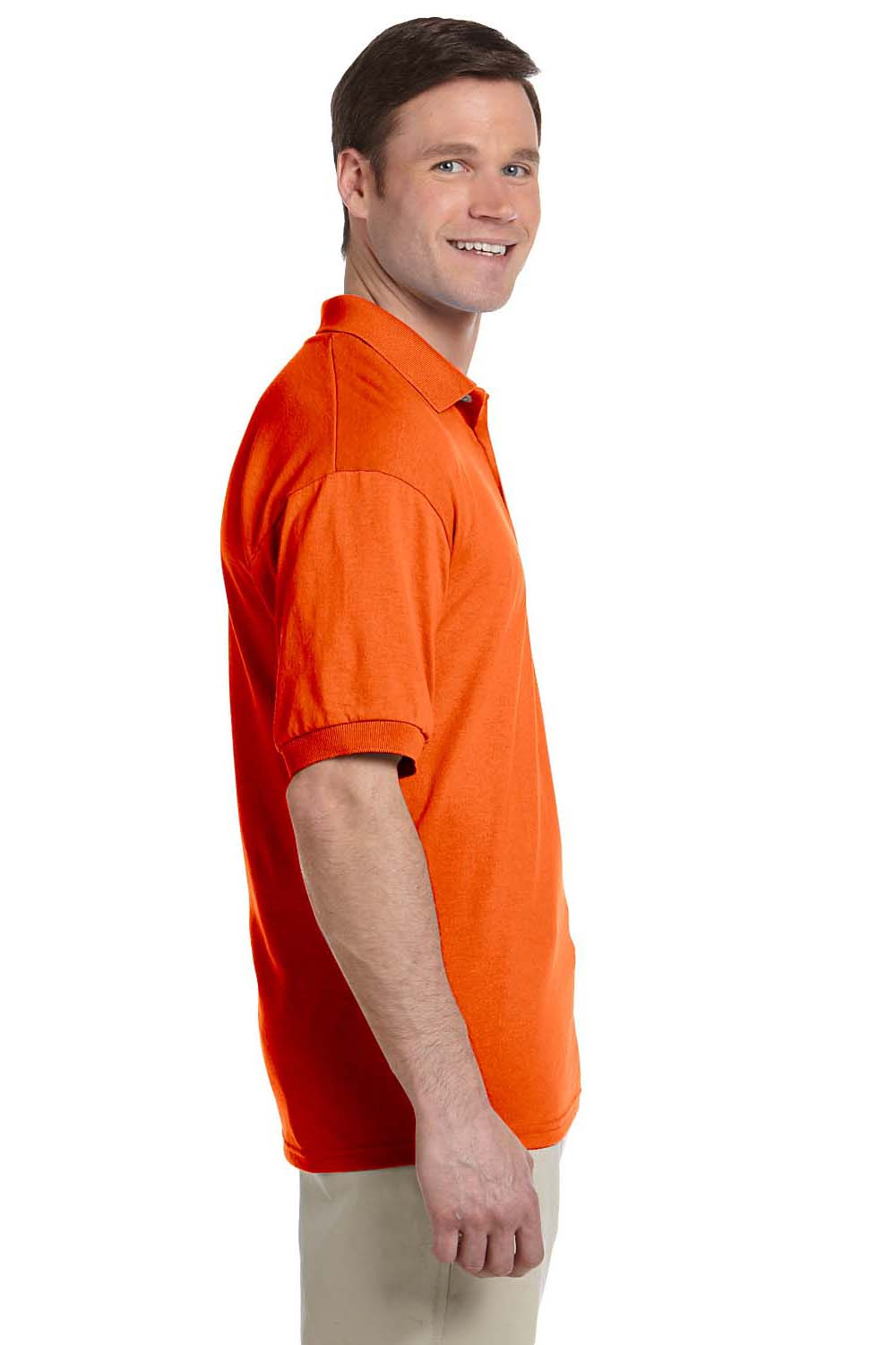 Gildan G880 Mens DryBlend Moisture Wicking Short Sleeve Polo Shirt Orange Side