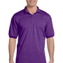 Gildan Mens DryBlend Moisture Wicking Short Sleeve Polo Shirt - Purple