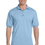 Gildan Mens DryBlend Moisture Wicking Short Sleeve Polo Shirt - Light Blue