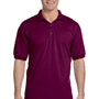 Gildan Mens DryBlend Moisture Wicking Short Sleeve Polo Shirt - Maroon