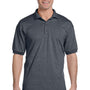 Gildan Mens DryBlend Moisture Wicking Short Sleeve Polo Shirt - Heather Dark Grey