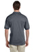 Gildan G880 Mens DryBlend Moisture Wicking Short Sleeve Polo Shirt Heather Dark Grey Back