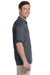 Gildan G880 Mens DryBlend Moisture Wicking Short Sleeve Polo Shirt Heather Dark Grey Side