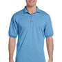 Gildan Mens DryBlend Moisture Wicking Short Sleeve Polo Shirt - Carolina Blue