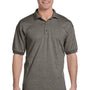 Gildan Mens DryBlend Moisture Wicking Short Sleeve Polo Shirt - Heather Graphite Grey
