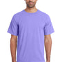 ComfortWash by Hanes Mens Short Sleeve Crewneck T-Shirt - Lavender Purple