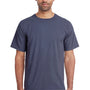 ComfortWash By Hanes Mens Short Sleeve Crewneck T-Shirt - Anchor Slate Blue