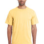 ComfortWash By Hanes Mens Short Sleeve Crewneck T-Shirt - Summer Squash Yellow